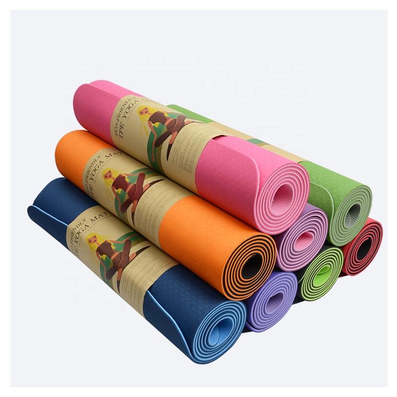 Коврик для йоги и фитнеса TPE. Профессиональный каремат (yoga mat TPE)