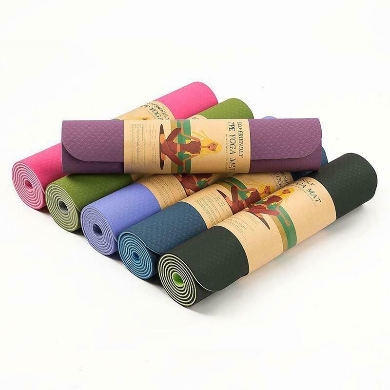Гимнастические коврики для йоги и фитнеса TPE. Профессиональный каремат (yoga mat TPE)