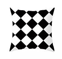 Подушка декоративная 45*45, ромбы бел-черн