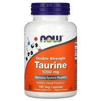 Now Foods,Таурин, двойной концентрации, 1000 мг, 100  капсул