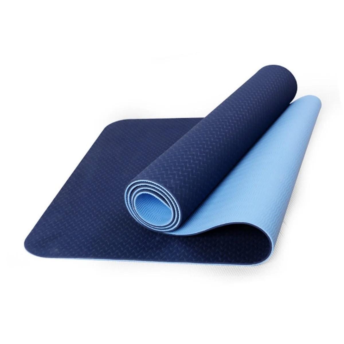 Коврик для йоги темно-синий