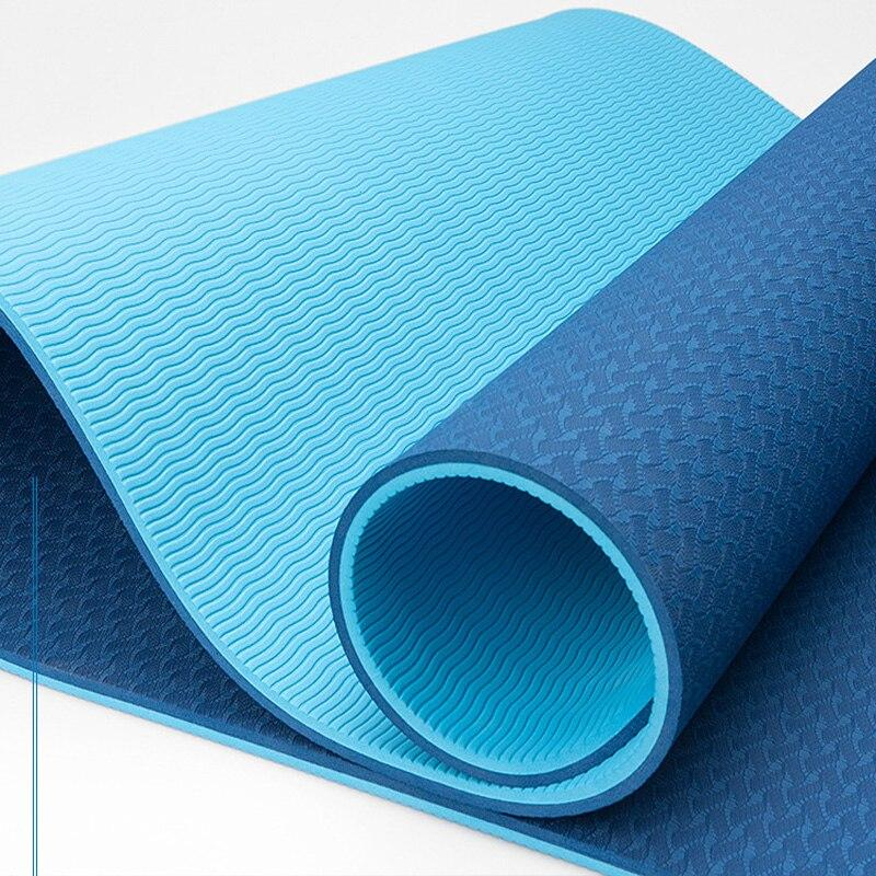 Коврик для йоги синий