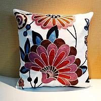 Подушка декоративная 45*45, цветы 1