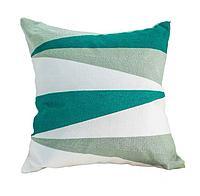 Подушка декоративная 45*45, геометрия зеленая