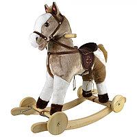 Качалка-лошадка Pituso с колёсами Серый с белым
