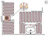 Двухжильный нагревательный мат 10м² МНД-10,0-1600Вт, фото 3