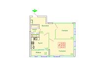 2 комнатная квартира в ЖК София 64.41 м², фото 1