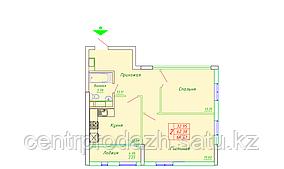 2 комнатная квартира в ЖК София 64.41 м²