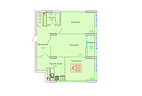3 комнатная квартира в ЖК София 78.3 м², фото 1