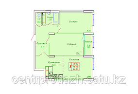 3 комнатная квартира в ЖК София 78.3 м²