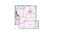 3 комнатная квартира в ЖК София 89.42 м², фото 1