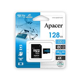 Карта памяти Apacer AP128GMCSX10U7-R 128GB + адаптер