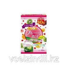 Аодзиру с коллагеном и плацентой со вкусом фруктов, YUWA, 1 пакетик