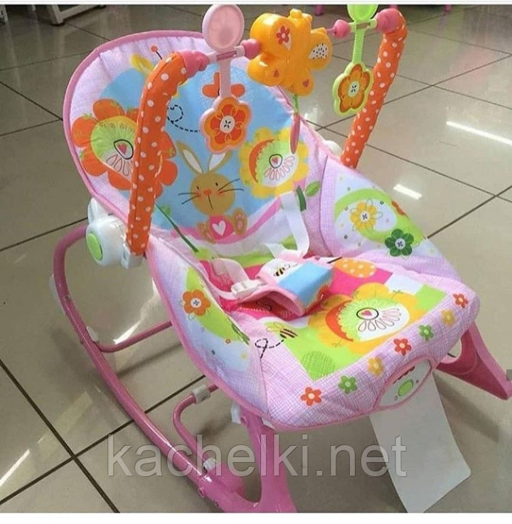 Детский шезлонг-качалка iBaby 68112 (аналог Fisher price)