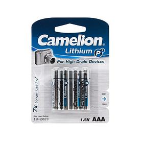 Батарейка CAMELION Lithium P7 FR03-BP4 4 шт. в блистере