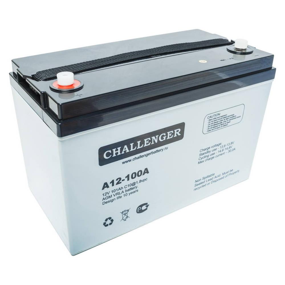 Аккумуляторная батарея Challenger A12-100А 100 А·ч