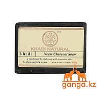 Мыло Ним и Древесный уголь (Neem Charcoal Soap KHADI), 125 гр