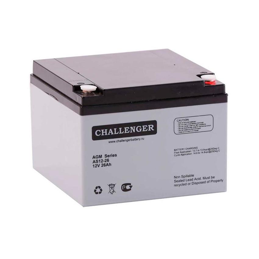 Аккумулятор Challenger AS12-26 (12В, 26Ач)