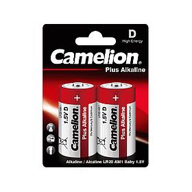Батарейка CAMELION Plus Alkaline LR20-BP2 2 шт. в блистере