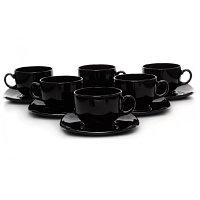 Чайные пары 22 CL QUADRATO BLACK (C3115) 1*4