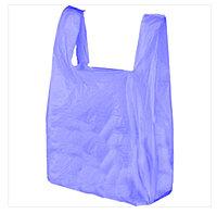Пакеты майка 55х65см синего цвета для объемных и тяжелых товаров