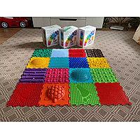Детский массажный коврик ОРТОДОН, набор Ассорти микс №16 (16 пазлов)
