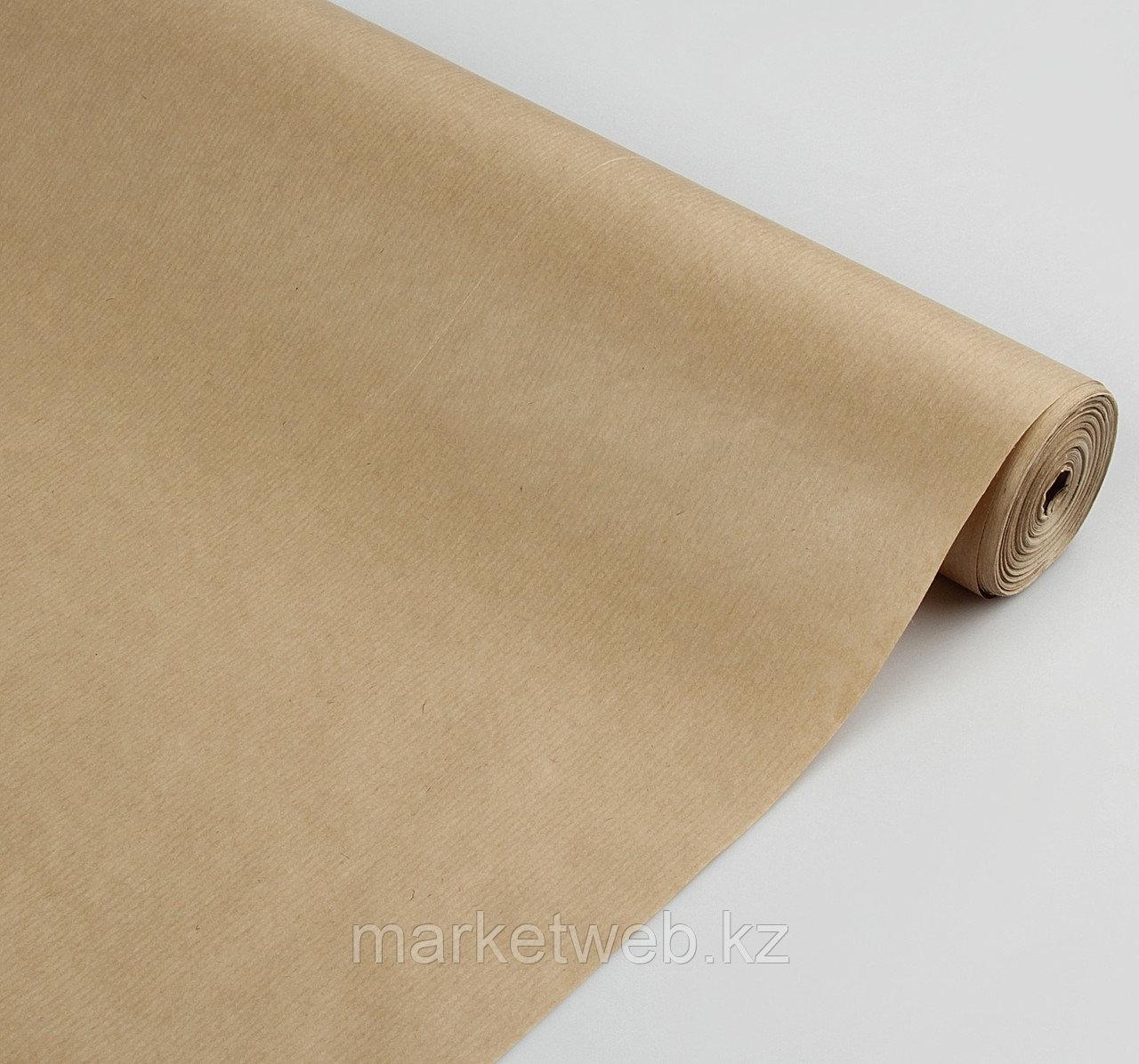 Бумага упаковочная крафт 0,72 x 50 м - фото 1