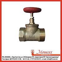 Кран пожарный прямой латунный КПЛП 65-1 муфта-цапка