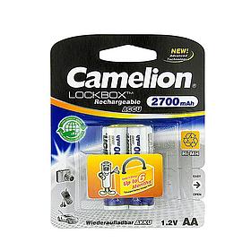 Аккумулятор CAMELION Lockbox Rechargeable Ni-MH NH-AA2700LBP2 2 шт. в блистере