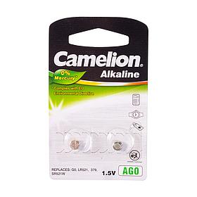 Батарейка CAMELION Alkaline AG0-BP2(0%Hg) 2 шт. в блистере