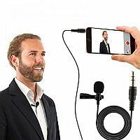 Петличный микрофон 5м для телефона, камеры разъем 3.5мм
