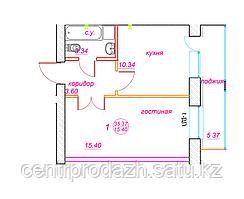 1 комнатная квартира ЖК Viva Grand (Вива Гранд) 35.37 м²