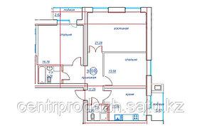 3 комнатная квартира ЖК Viva Grand (Вива Гранд) 83.9 м²
