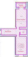 2 комнатная квартира в ЖК Будапешт 55.61 м²