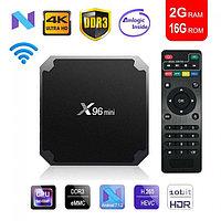 Андроид Смарт ТВ приставка smart tv box - X96 Mini S905W New 2/16 Gb New version 2020г