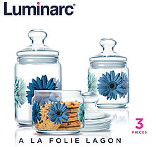 Набор банок для сыпучих Luminarc A La Folie Lagon (3 шт.)