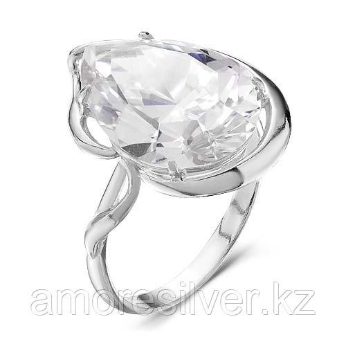 Кольцо Красная Пресня серебро с родием, фианит 2388302Д