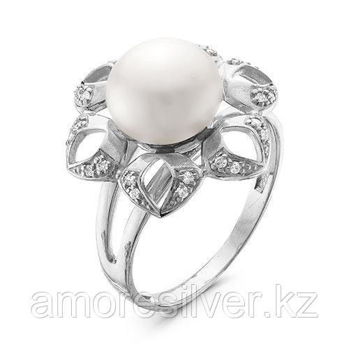 Кольцо TEOSA серебро с родием, жемчуг фианит, флора Z1-9372