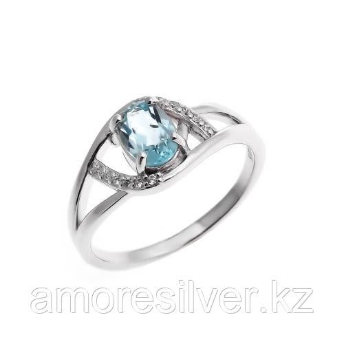 "Кольцо TEOSA серебро с родием, топаз фианит, ""halo"" 0978-R-T"