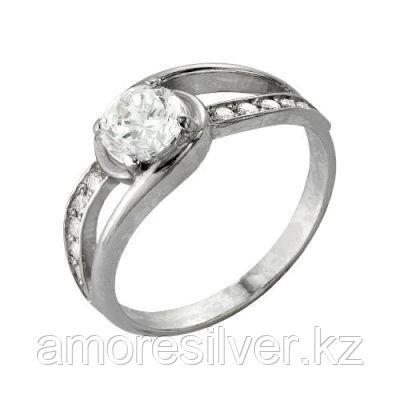 Кольцо Красная пресня серебро с родием, фианит, фантазия 2386162Д