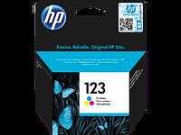 Оригинальный трехцветный картридж 123 для HP DeskJet 2130 F6V16AE