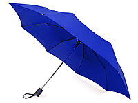 Зонт складной Irvine, полуавтоматический, 3 сложения, с чехлом, темно-синий