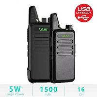 Комплект из двух радиостанций WLN KD-C1 с зарядкой от USB [UHF 400-470]