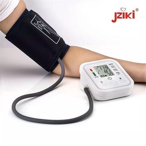 Тонометр осциллометрический цифровой автоматический JZIKI для измерения артериального давления и пульса (на - фото 1