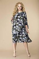 Женское осеннее шифоновое нарядное большого размера платье Romanovich Style 1-2043 /2 54р.