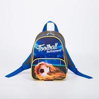 Рюкзак детский, отдел на молнии, цвет синий, 'Футбол'