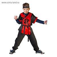Карнавальный костюм «Ниндзя: красный дракон» с оружием, р. 28, рост 98-104 см