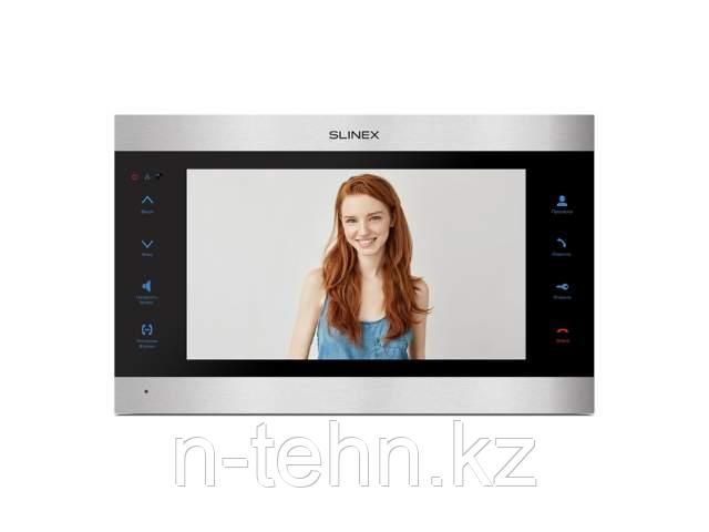 Комплект Slinex SL-10IPT V2 AHD серебро + черный + 2 видеокамеры EZCVI HAC-B1A02P