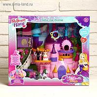 Замок для кукол, с фигурками, свет, звук, с аксессуарами