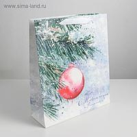 Пакет ламинированный вертикальный «С Новым годом и Рождеством», M 26 × 30 × 9 см